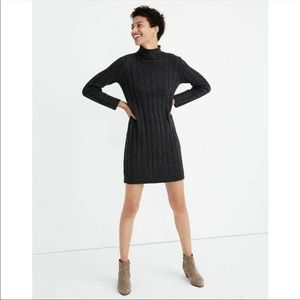 Madewell Donegal Rolled Mockneck Sweater Dress S